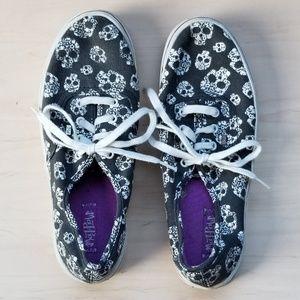 Flowered Skull Sneakers